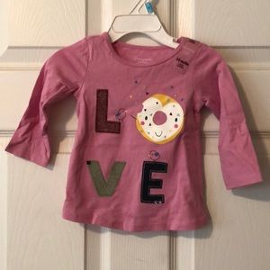 NWT First impressions long sleeve top size 3-6m
